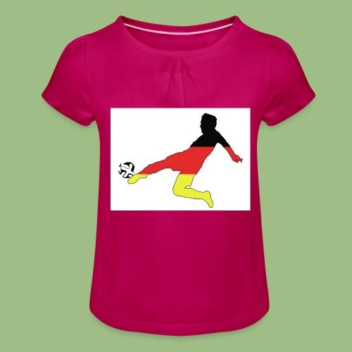 Mario Götze. Germany World Cup Winners - T-shirt med rynkning flicka