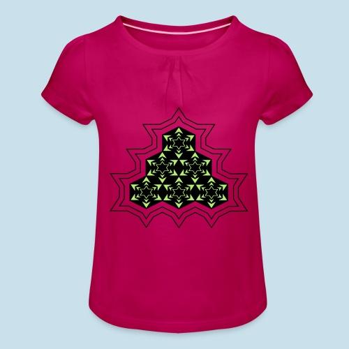 Stern - Mädchen-T-Shirt mit Raffungen