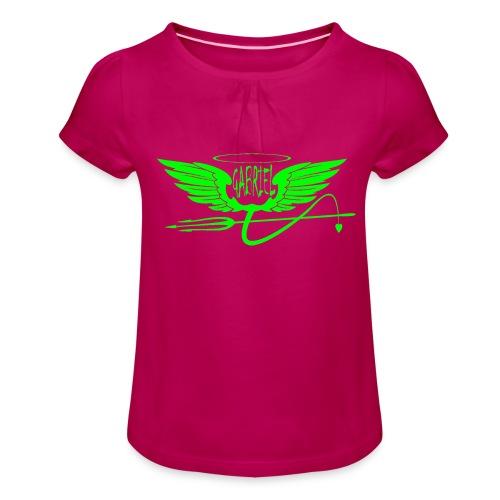 gabriel 2 - Maglietta da ragazza con arricciatura
