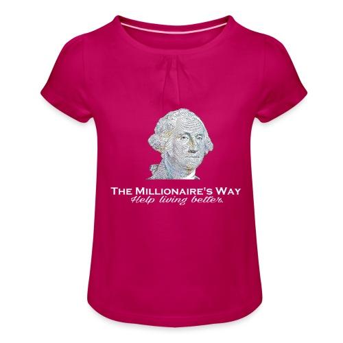 Il nostro logo in bianco - Maglietta da ragazza con arricciatura