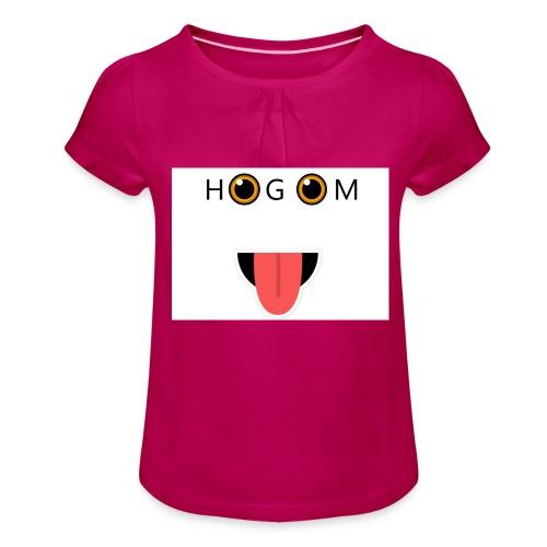 HetGameMisterie Logo - Meisjes-T-shirt met plooien