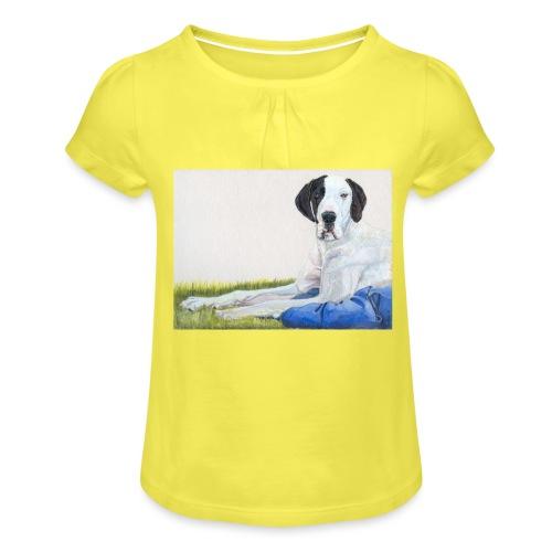 Grand danios harlequin - Pige T-shirt med flæser