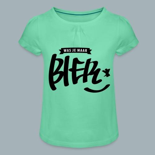 Bier Premium T-shirt - Meisjes-T-shirt met plooien