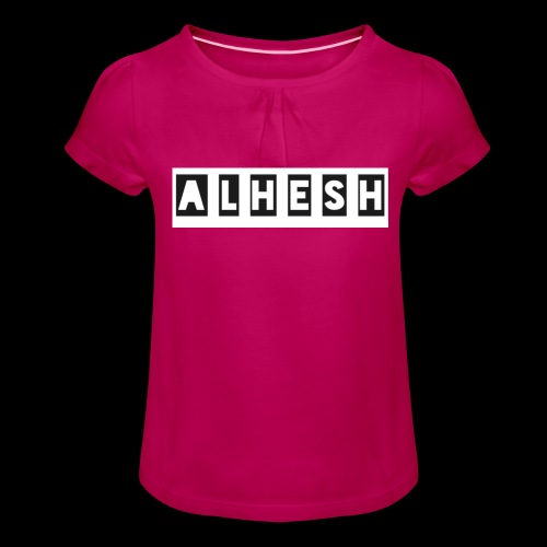 04131CD3 20A7 475D 94E9 CD80DF3D1589 - Mädchen-T-Shirt mit Raffungen