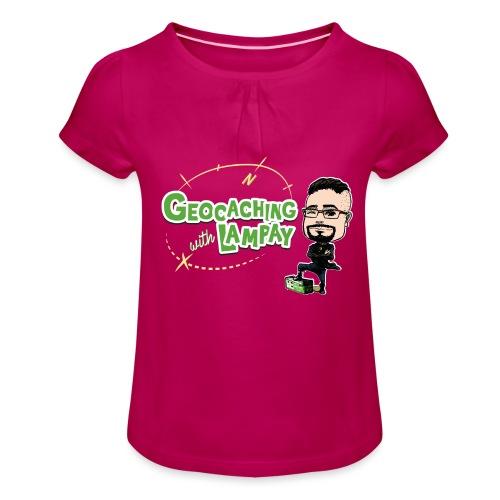 Geocaching With Lampay - T-shirt à fronces au col Fille
