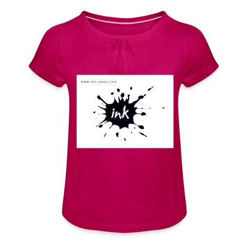 Ink Logo and website - Girl's T-Shirt with Ruffles