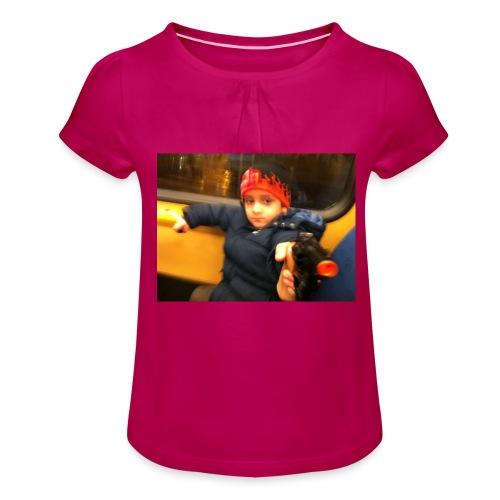 Rojbin gesbin - T-shirt med rynkning flicka