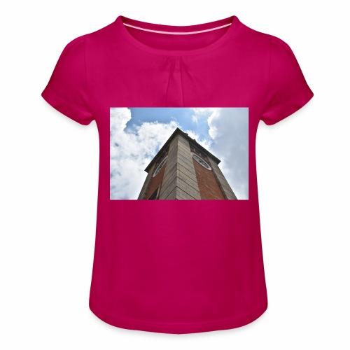 Torre dell'orologio - Maglietta da ragazza con arricciatura