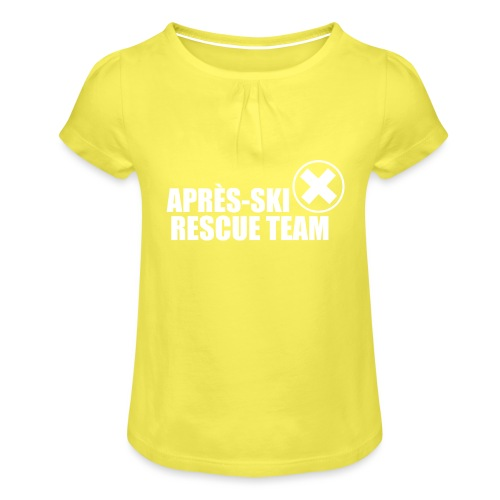 APRÈS SKI RESCUE TEAM 2 - Meisjes-T-shirt met plooien