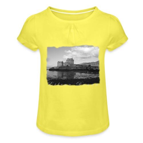 EILEAN DONAN CASTLE #1 - Mädchen-T-Shirt mit Raffungen