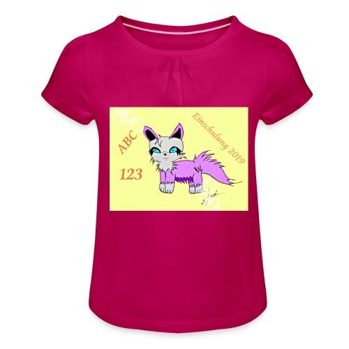 Einschulung - Mädchen-T-Shirt mit Raffungen