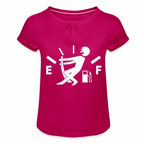 Empty tank - no fuel - fuel gauge - Girl's T-Shirt with Ruffles