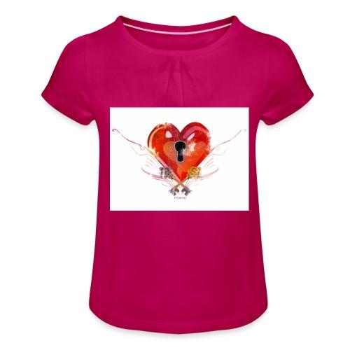 stvalentinmotif2 - T-shirt à fronces au col Fille