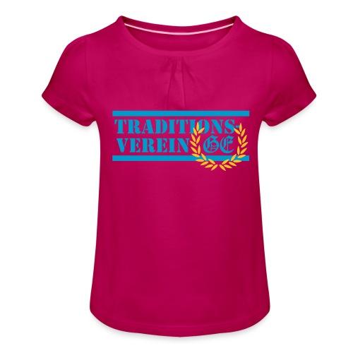Traditionsverein - Mädchen-T-Shirt mit Raffungen