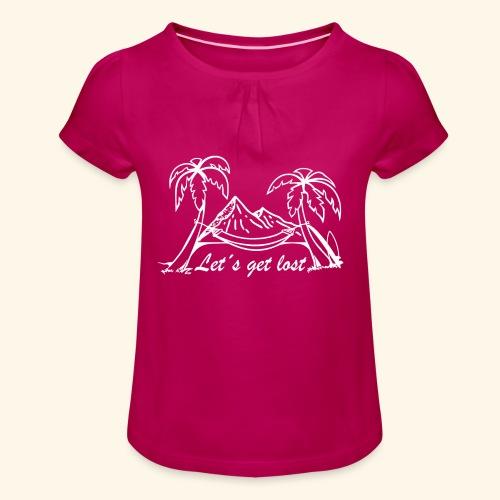 Globetrotter - Mädchen-T-Shirt mit Raffungen