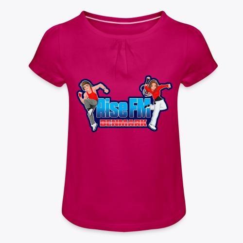 Rise FM Denmark Full Logo - Pige T-shirt med flæser