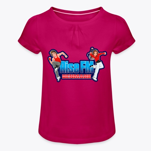 Rise FM Logo - Girl's T-Shirt with Ruffles