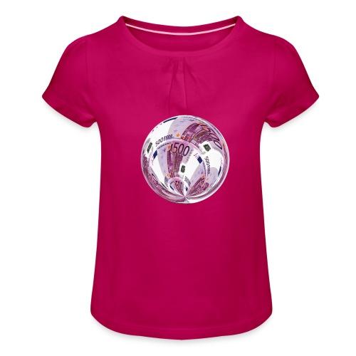 euro 500 schein - Mädchen-T-Shirt mit Raffungen
