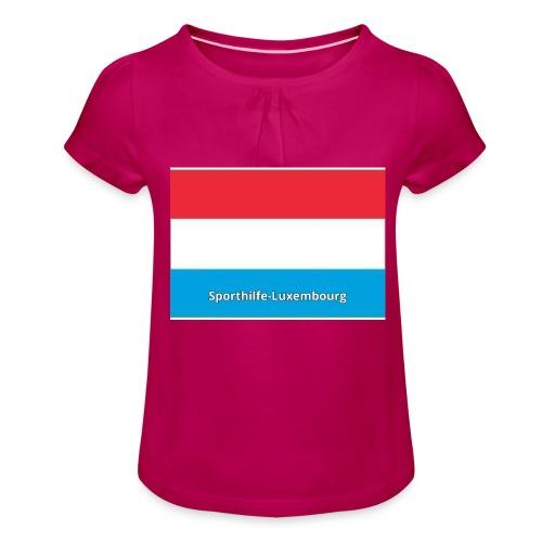 pf 1526995700 - T-shirt à fronces au col Fille
