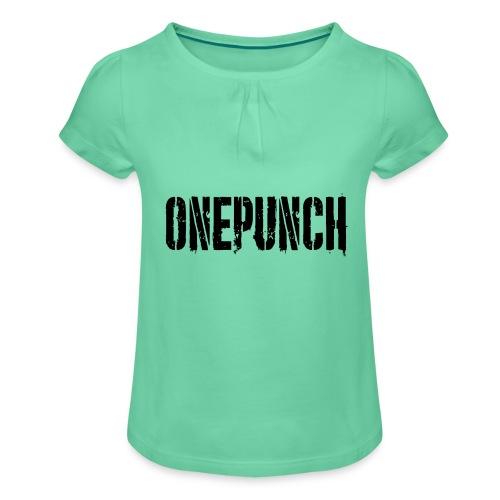 Boxing Boxing Martial Arts mma tshirt one punch - Girl's T-Shirt with Ruffles