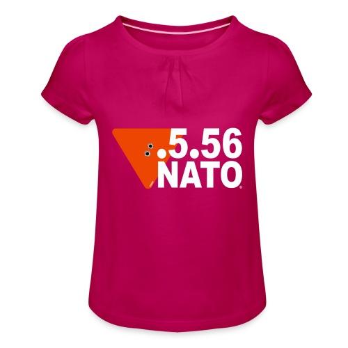 .5.56 NATO BLANC - T-shirt à fronces au col Fille