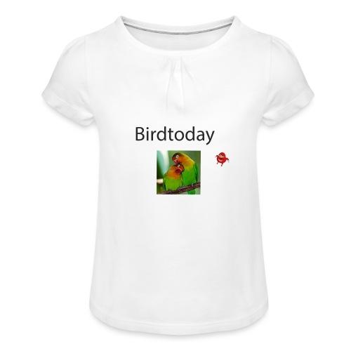 Birdtoday en Knuckels - Meisjes-T-shirt met plooien