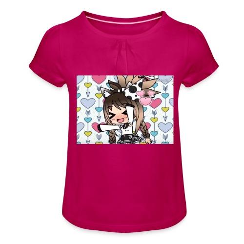 Urodzinowa Yuki! - Koszulka dziewczęca z marszczeniami