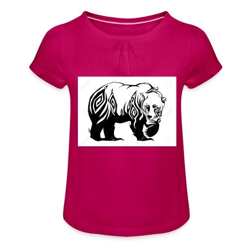 ours - T-shirt à fronces au col Fille