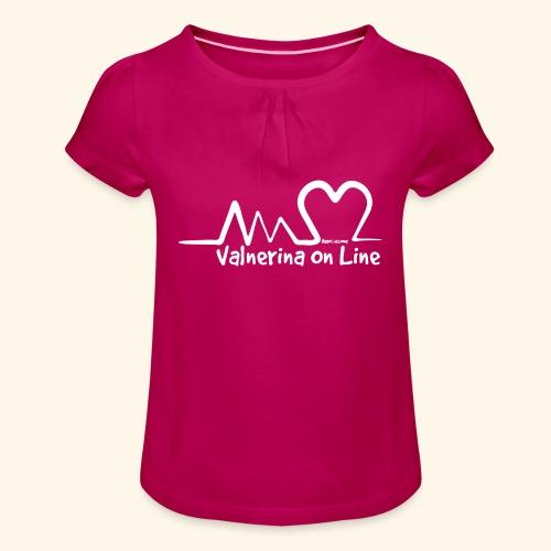 Valnerina On line APS maglie, felpe e accessori - Maglietta da ragazza con arricciatura