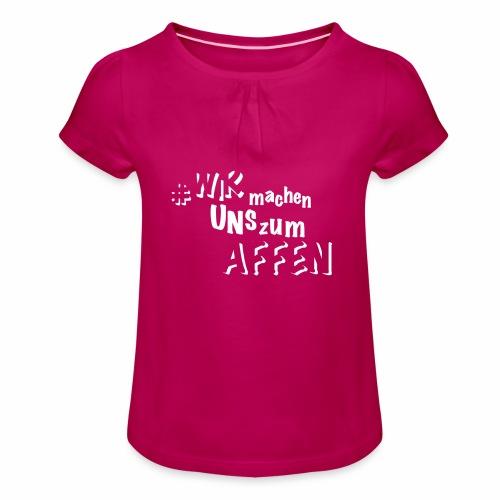 Stift & Block - Mädchen-T-Shirt mit Raffungen