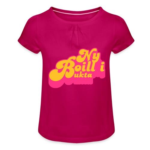 Ny boill i Bukta Gul - Jente-T-skjorte med frynser