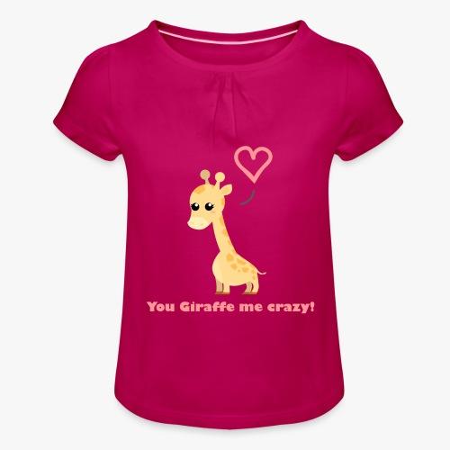Giraffe Me Crazy - Pige T-shirt med flæser