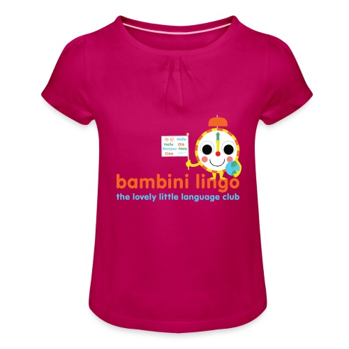 bambini lingo - the lovely little language club - Girl's T-Shirt with Ruffles