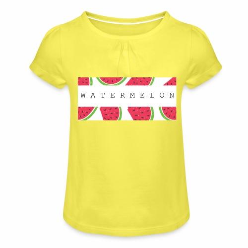 Watermelon - Maglietta da ragazza con arricciatura