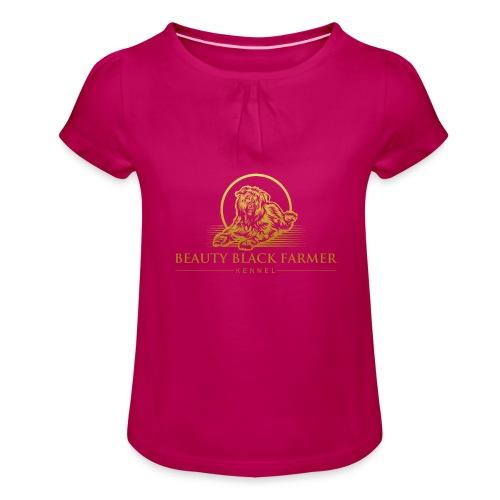 Beauty Black Farmer - Mädchen-T-Shirt mit Raffungen