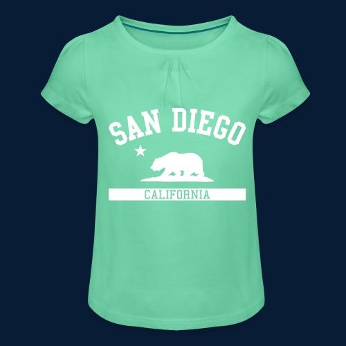 San Diego - Mädchen-T-Shirt mit Raffungen