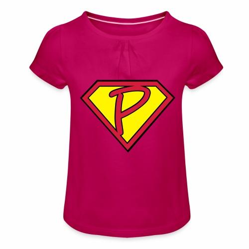 superp 2 - Mädchen-T-Shirt mit Raffungen