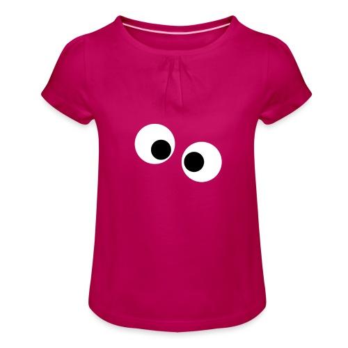 silly eyes - Meisjes-T-shirt met plooien