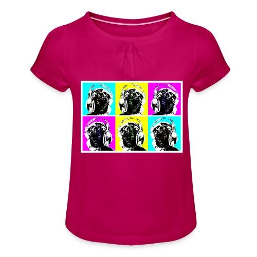 aeroeye - Mädchen-T-Shirt mit Raffungen