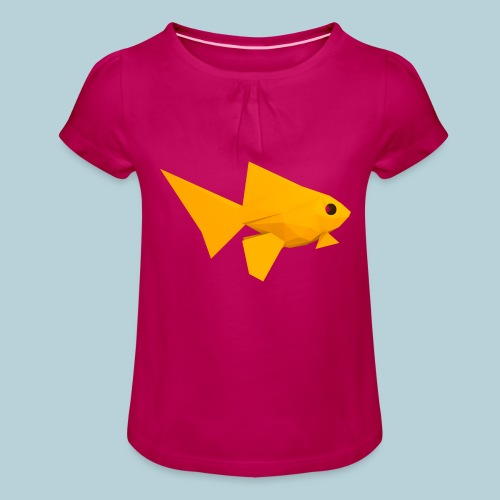 RATWORKS Fish-Smish - Girl's T-Shirt with Ruffles