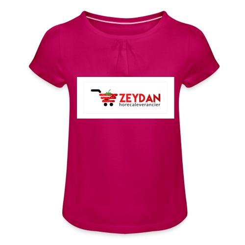 Zeydan - Meisjes-T-shirt met plooien