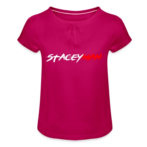 staceyman red design - Girl's T-Shirt with Ruffles