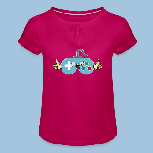 Het Oude Logo - Meisjes-T-shirt met plooien