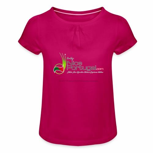 NicePortugal.com Logo - Maglietta da ragazza con arricciatura