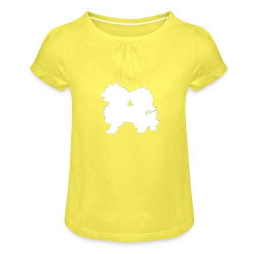 All white Arcanine Merch - T-shirt à fronces au col Fille