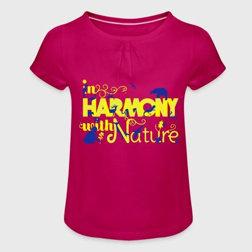 Harmonie Nature - T-shirt à fronces au col Fille