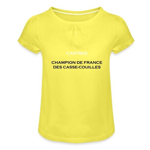 design castres - T-shirt à fronces au col Fille