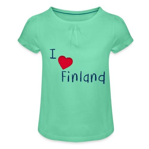 I Love Finland - Tyttöjen t-paita, jossa rypytyksiä