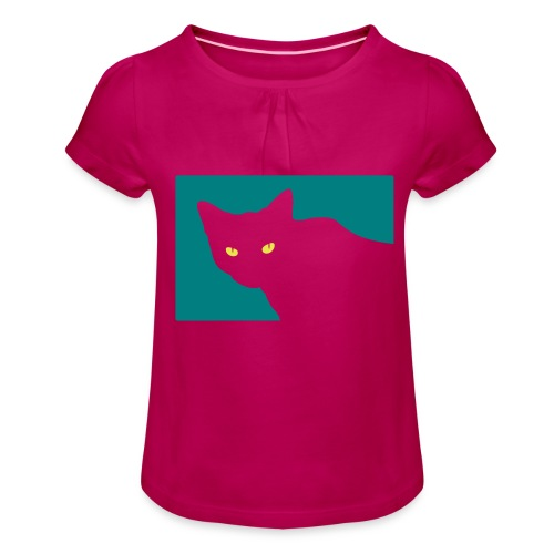 Spy Cat - Girl's T-Shirt with Ruffles