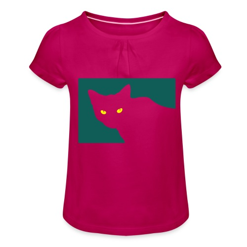 Spy Cat - Girl's T-Shirt with Ruffles